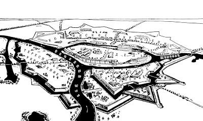 mapa fortaleza de Brest